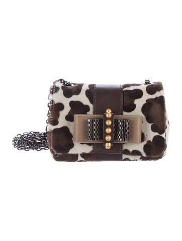 Christian Louboutin Leopard Ponyhair Sweet Charity Bag None