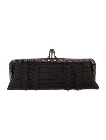 Christian Louboutin Louvicious Pleated Crepe Clutch None