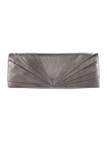 Christian Louboutin Metallic Pleated Clutch None