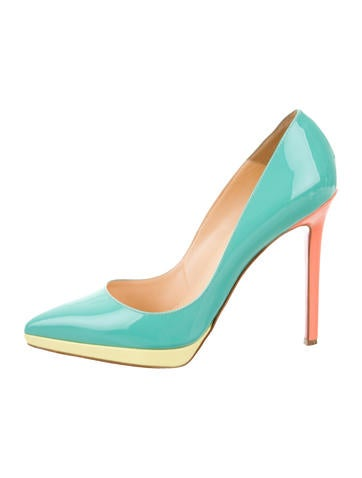 Pointed-Toe Colorblock Pumps