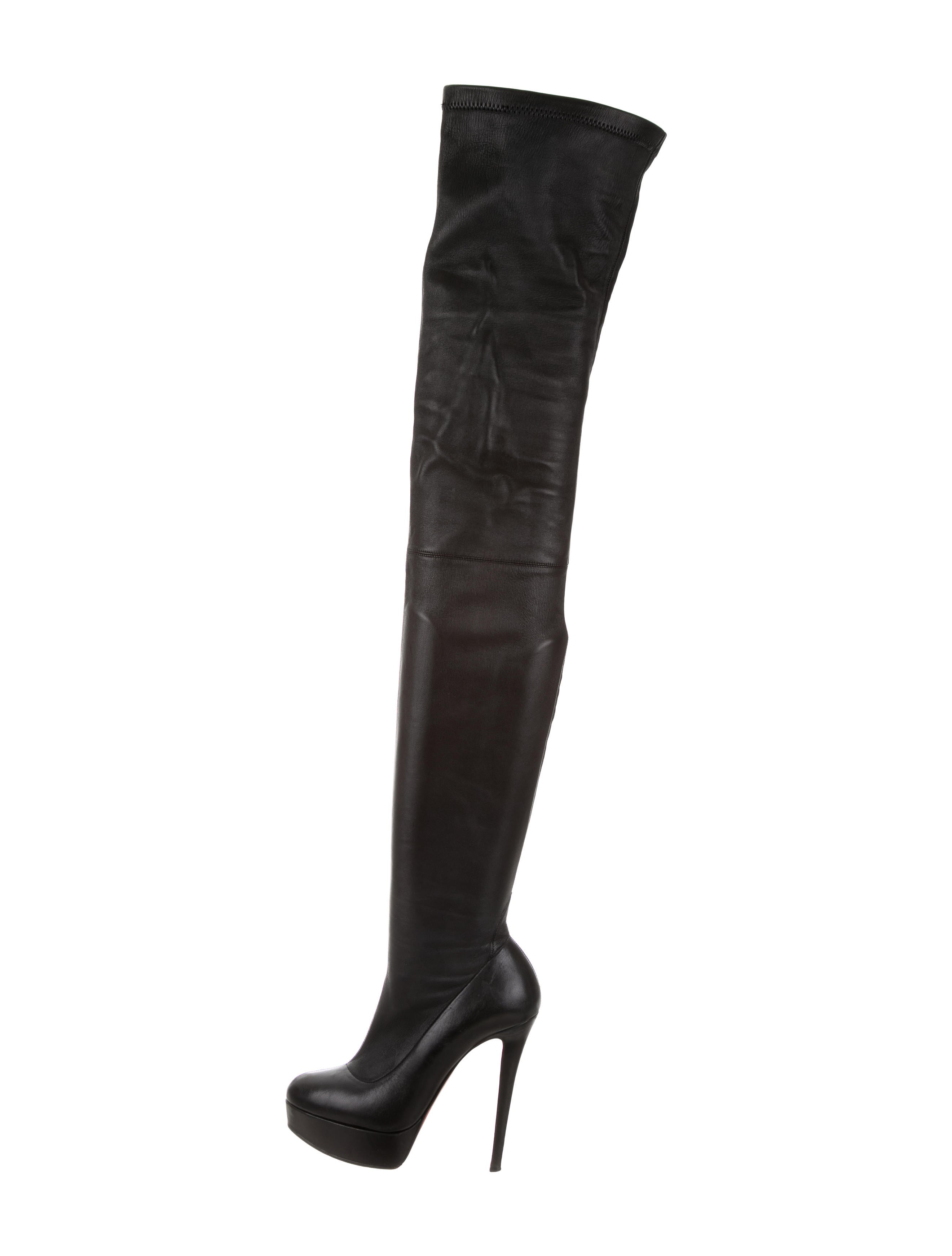 58e75e80cfa Christian Louboutin Gazolina 140 Thigh-High Boots - Shoes - CHT61363 ...