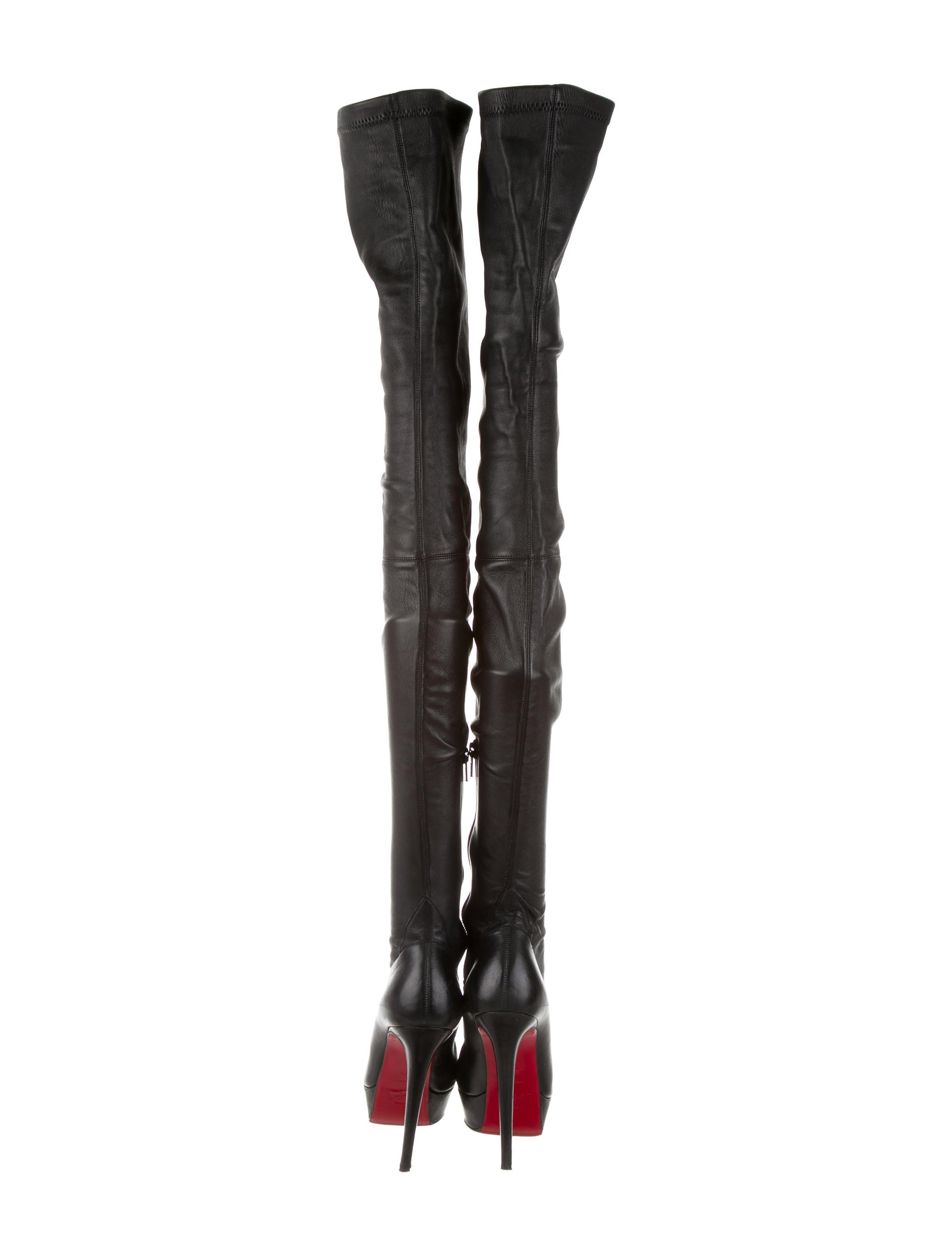 57fe568c8fed ... Christian Louboutin Gazolina Over the Knee Boots - YouTube Gazolina 140  Thigh-High Boots ...