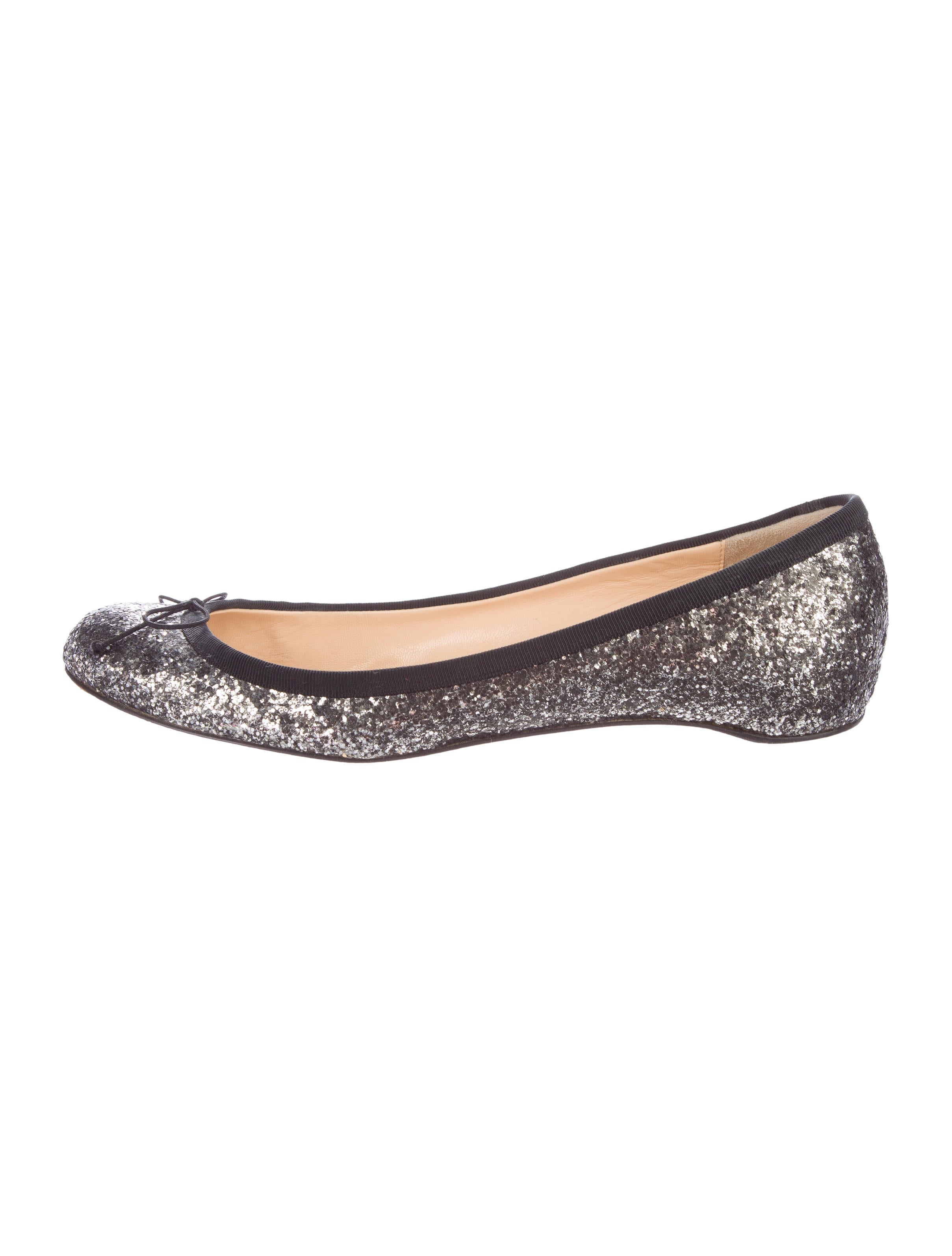 clearance low shipping fee outlet geniue stockist Christian Louboutin Glitter Round-Toe Flats znflIDvzz