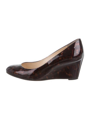 Christian Louboutin Tortoiseshell Round-Toe Wedges None