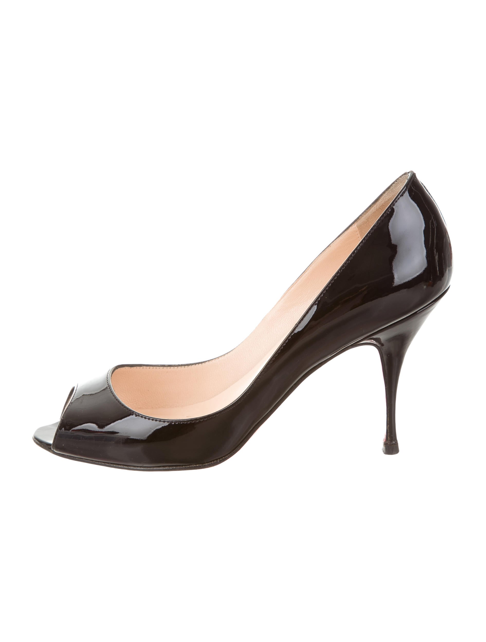 fc72718f29 Christian Louboutin Patent Leather Yootish 85 Pumps - Shoes ...