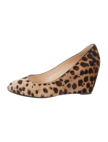 Christian Louboutin Ponyhair Cheetah Wedgesw None