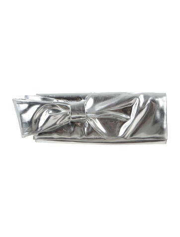 Christian Louboutin Metallic Bow Clutch None