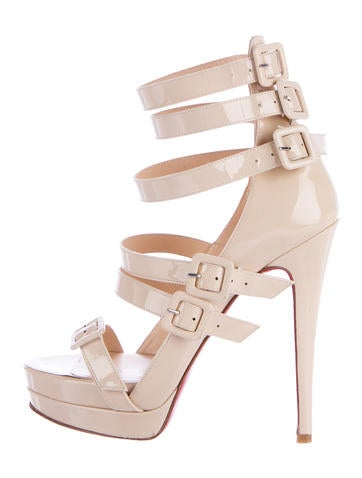 Christian Louboutin Patent Leather Multistrap Sandals None
