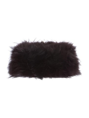 Christian Louboutin Anastasia Fox Fur Clutch None