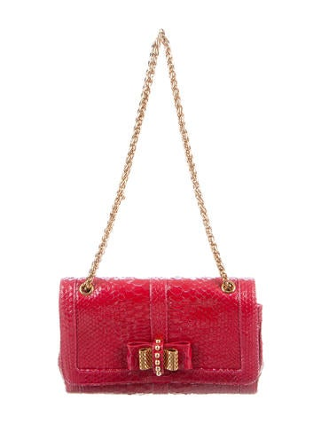 Christian Louboutin Small Python Sweet Charity Bag None