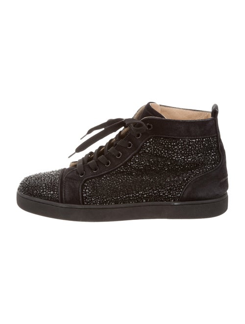9b489650a20 Christian Louboutin Louis Flat Veau Velours Strass Sneakers - Shoes ...