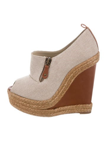 Christian Louboutin Canvas Wedge Espadrilles None