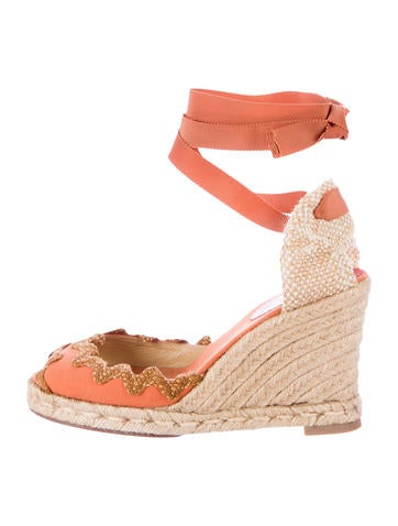 Christian Louboutin Peep-Toe Espadrille Sandals None