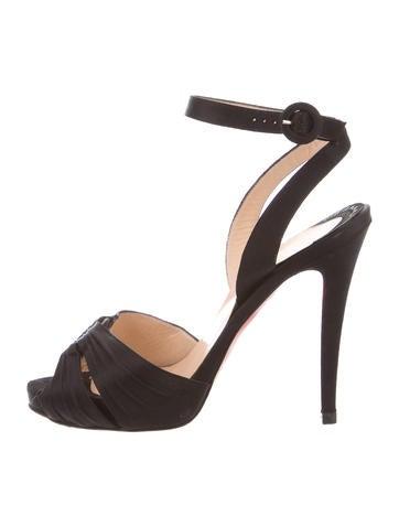 Christian Louboutin Satin Multistrap Sandals