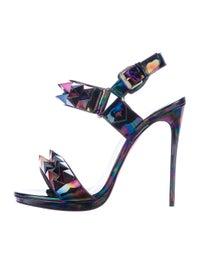 buy online 5ed83 2905a Christian Louboutin Miziggoo Iridescent Sandals - Shoes ...