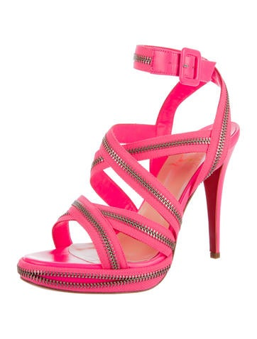 Rodita Zip-Accented Sandals w/ Tags