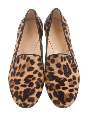 Leopard Print Ponyhair Loafers