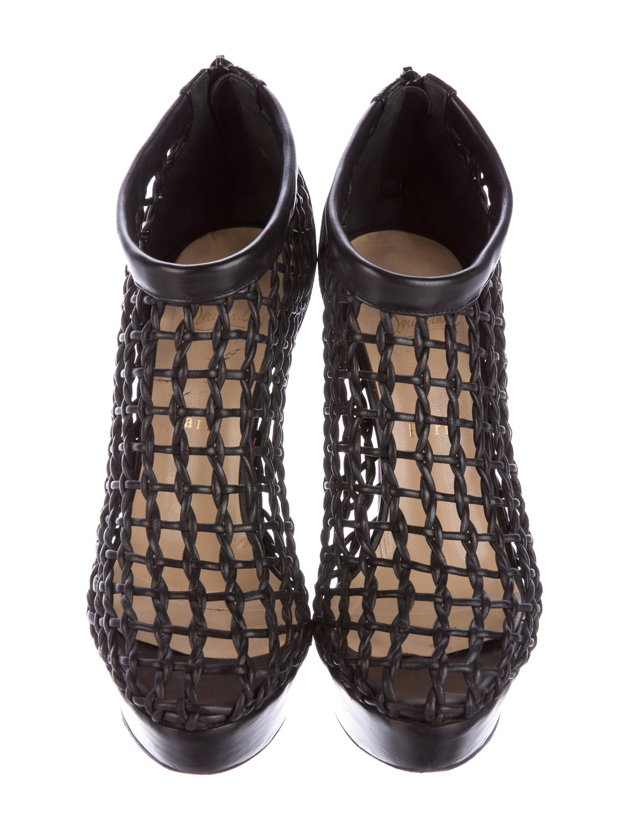 Christian Louboutin Coussin Caged Booties Shoes