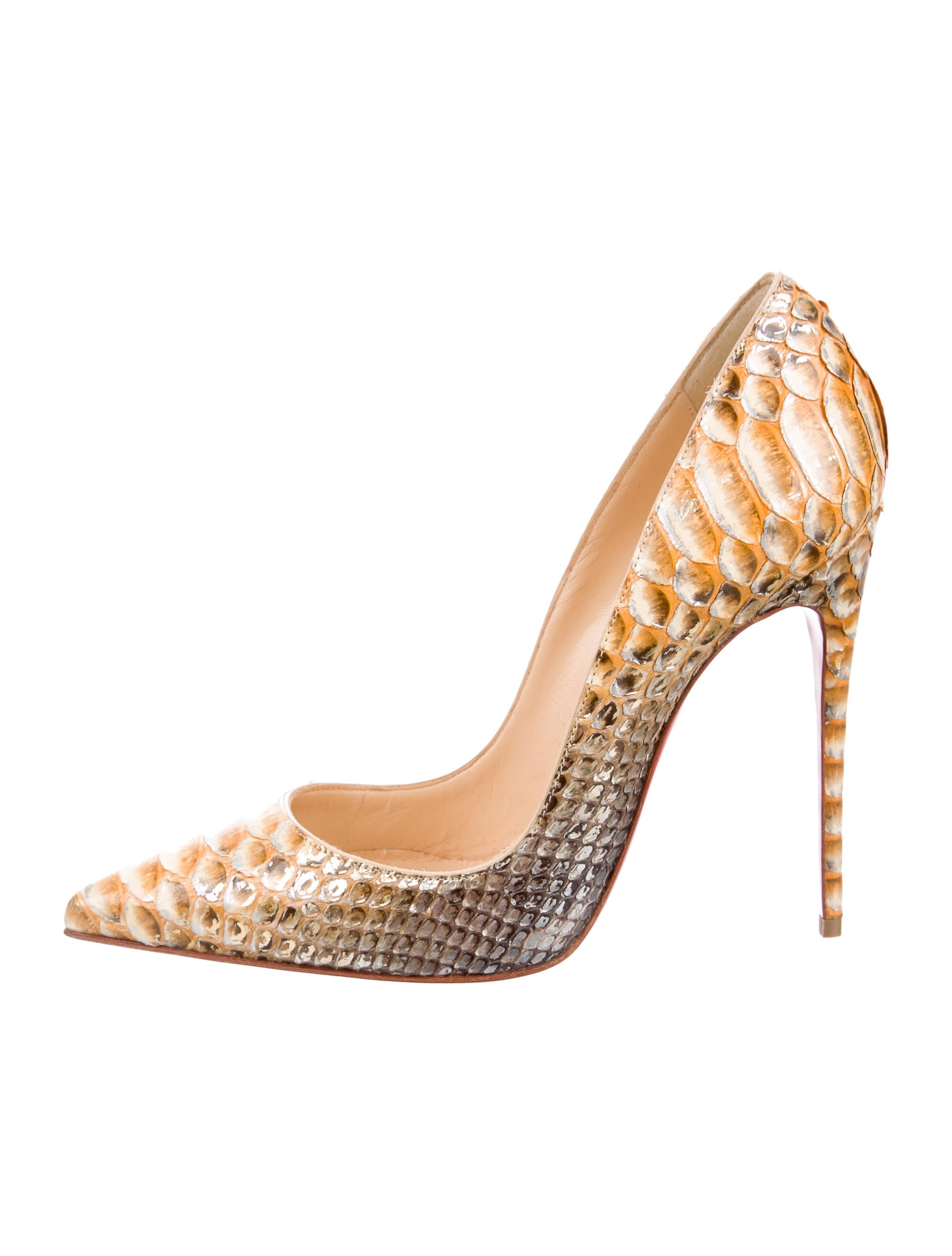 afbbcad256c0 Christian Louboutin So Kate 120 Python Pumps - Shoes - CHT64819 ...