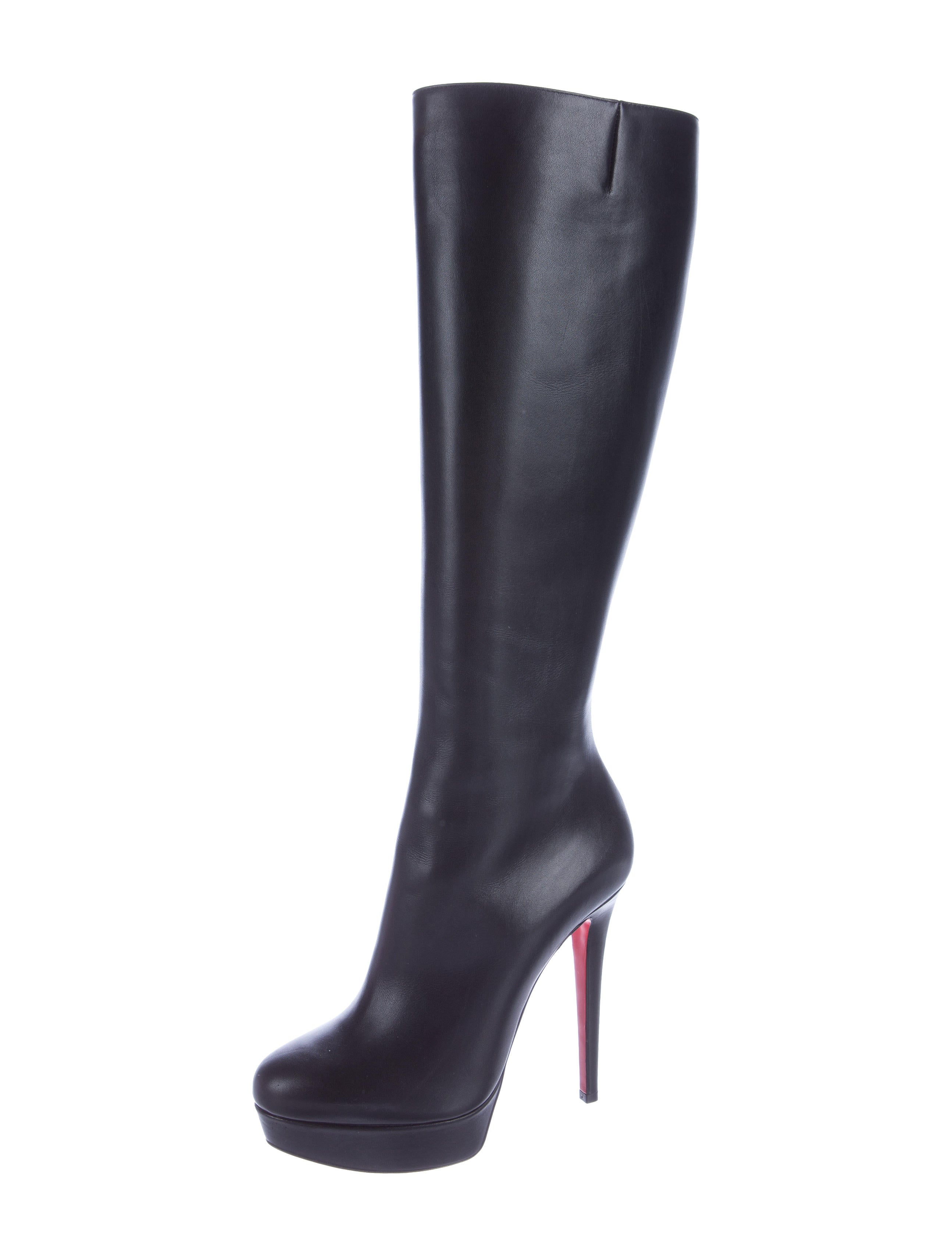 christian louboutin leather platform boots shoes