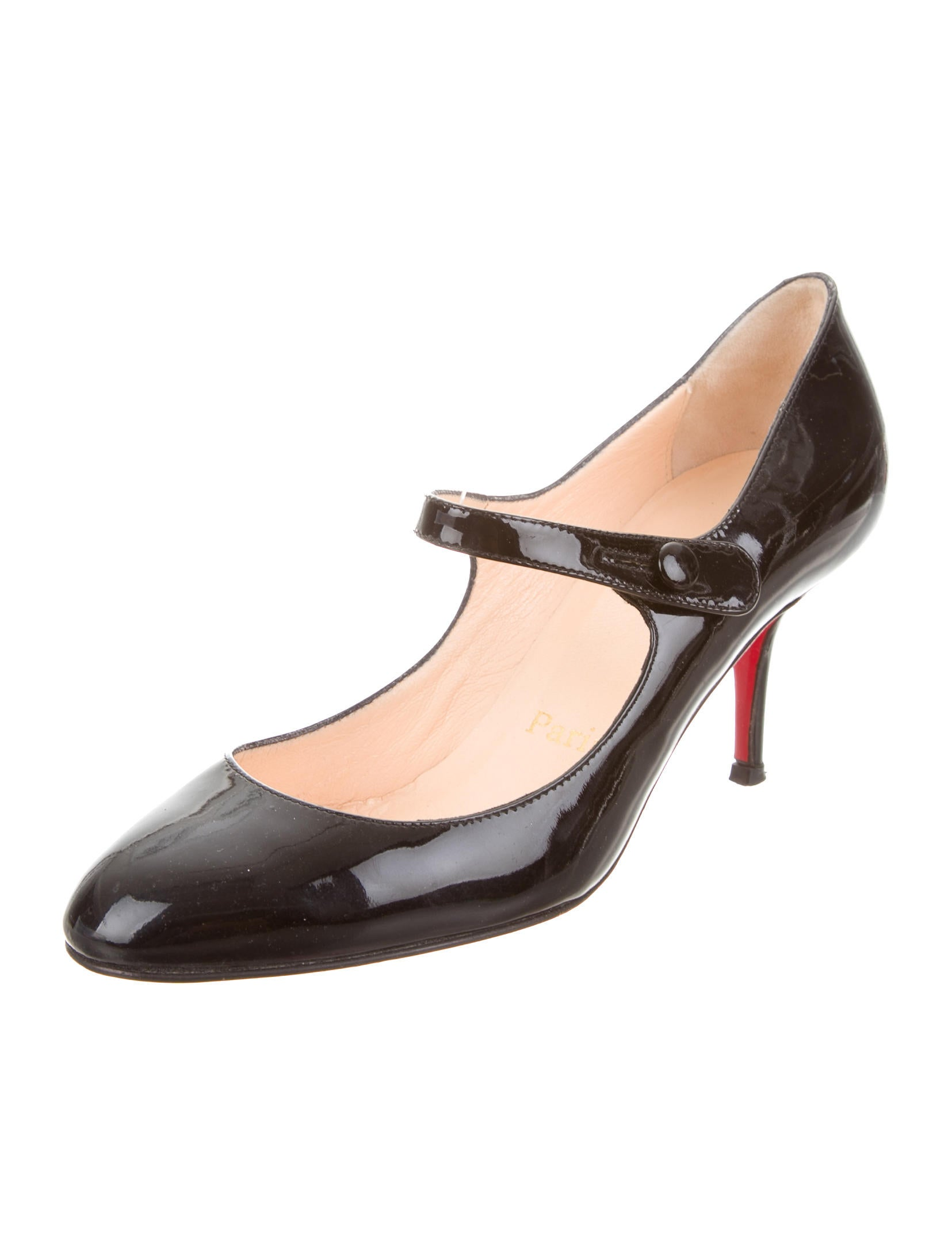 Christian Louboutin Patent Mary Jane Pumps Shoes