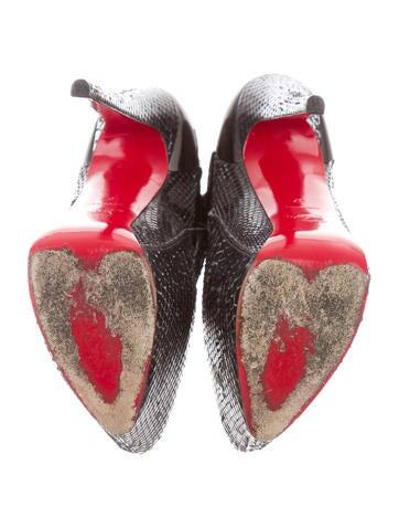 Snakeskin Platform Ankle Boots