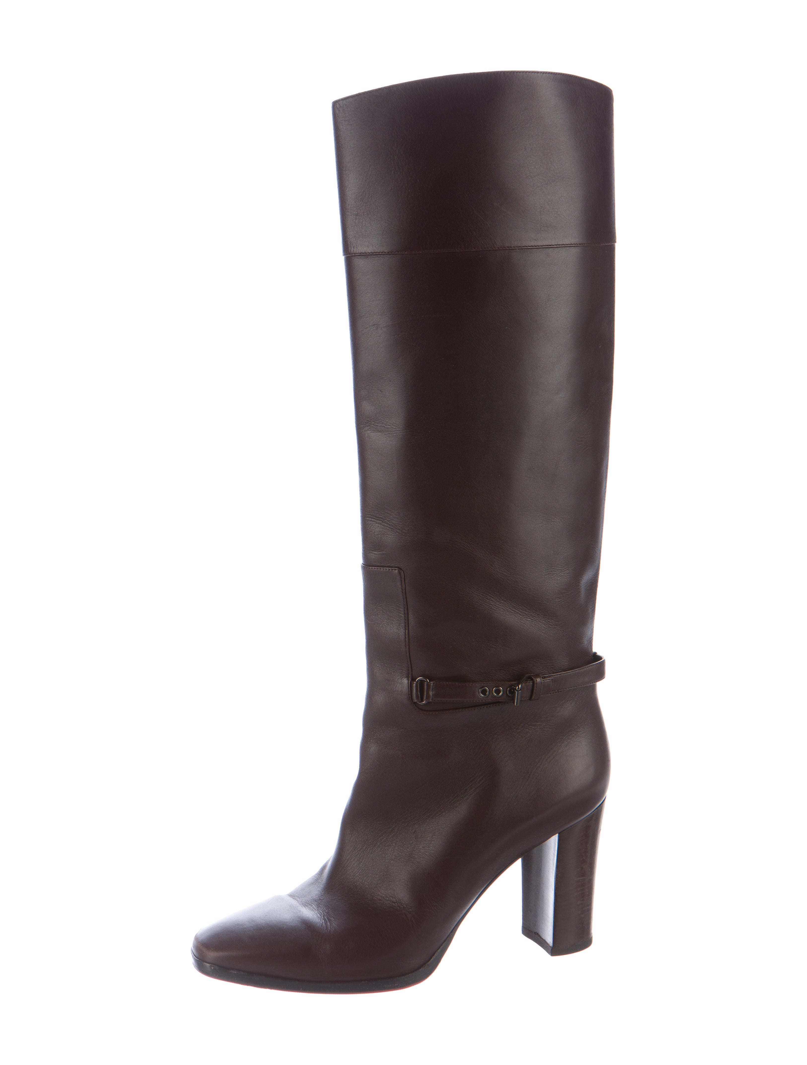 christian louboutin mervillon 85 leather boots shoes