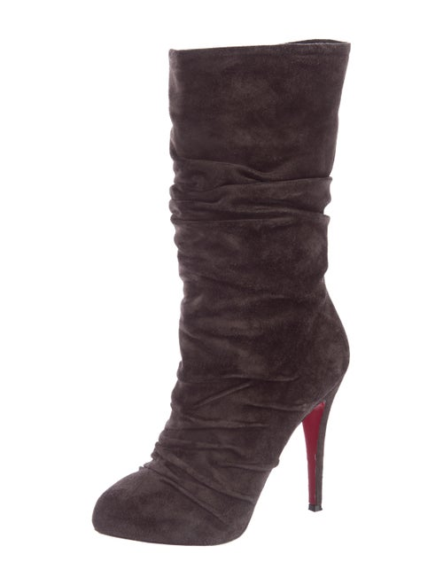 save off 0b51e e629c Christian Louboutin Piros Suede Boots - Shoes - CHT65308 ...