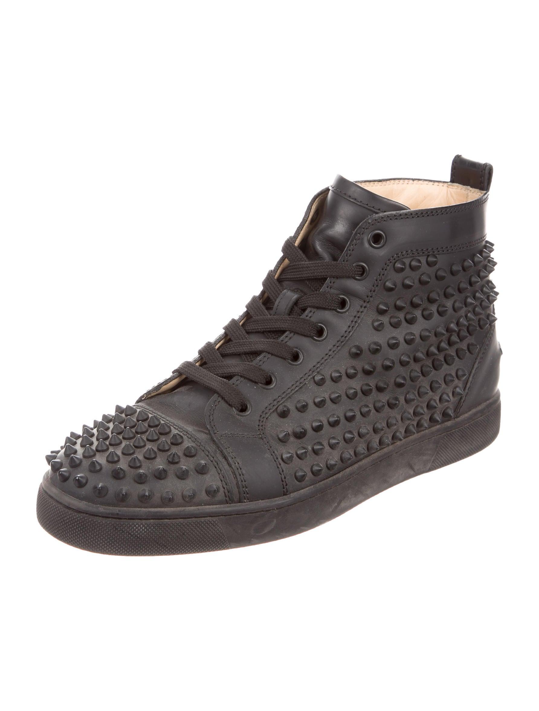 b5a5d18b53c Christian Louboutin Studded Boots Jobs Black Patent Shoes Men ...