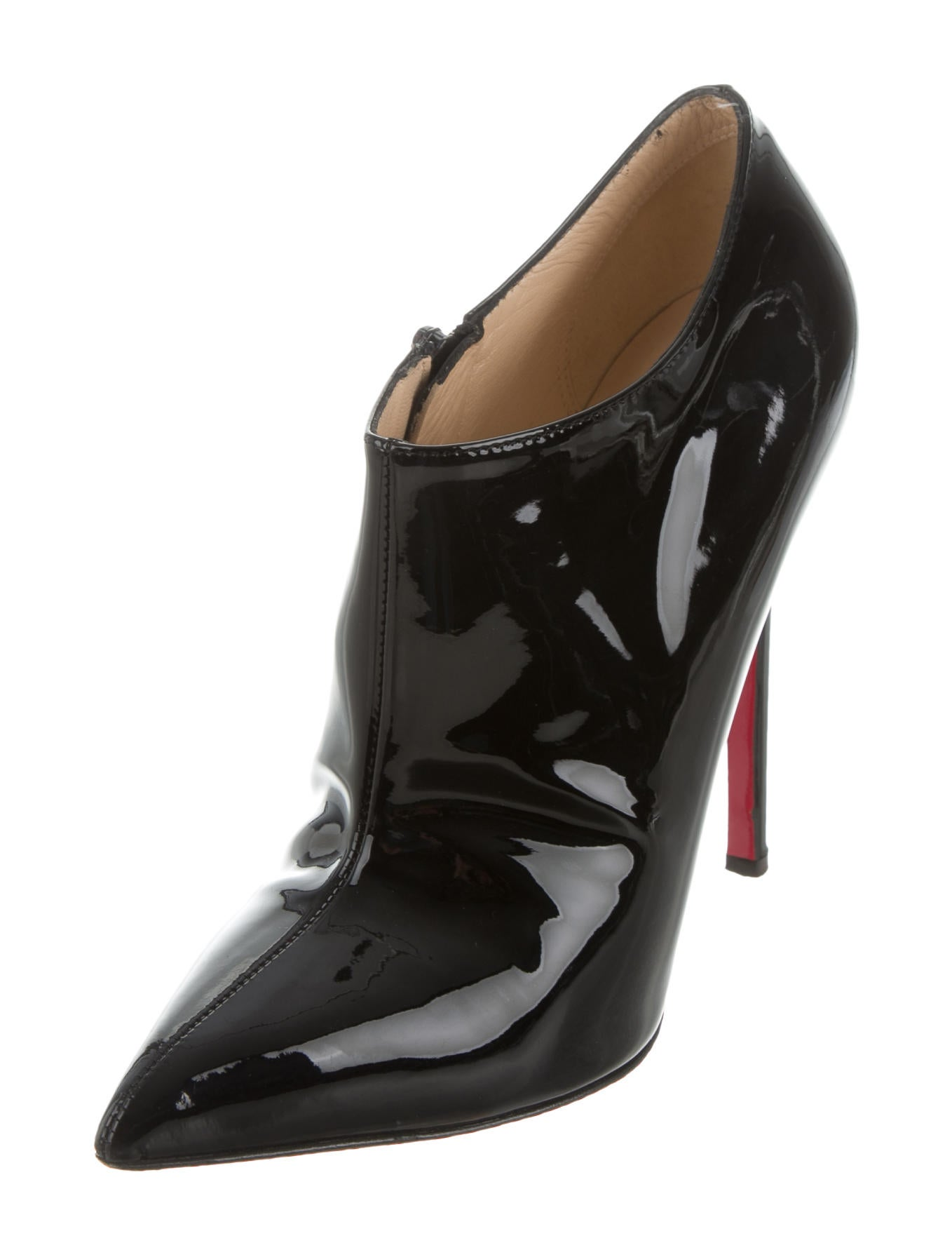 Small modern kitchen tables - Christian Louboutin Patent Leather Pointed Toe Booties