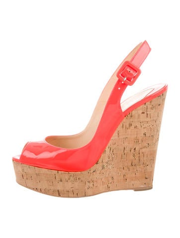 christian louboutin neon wedge sandals shoes cht65731