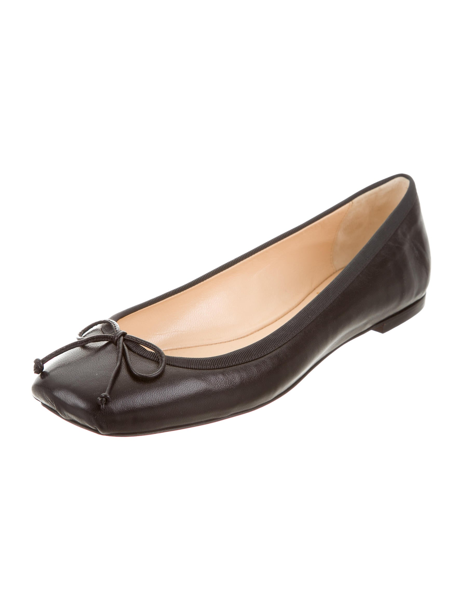 Christian Louboutin Leather Ballet Flats Shoes