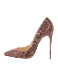 cheap for discount fe854 d294f Christian Louboutin Pigalle Follies Strass 120 Pumps - Shoes ...