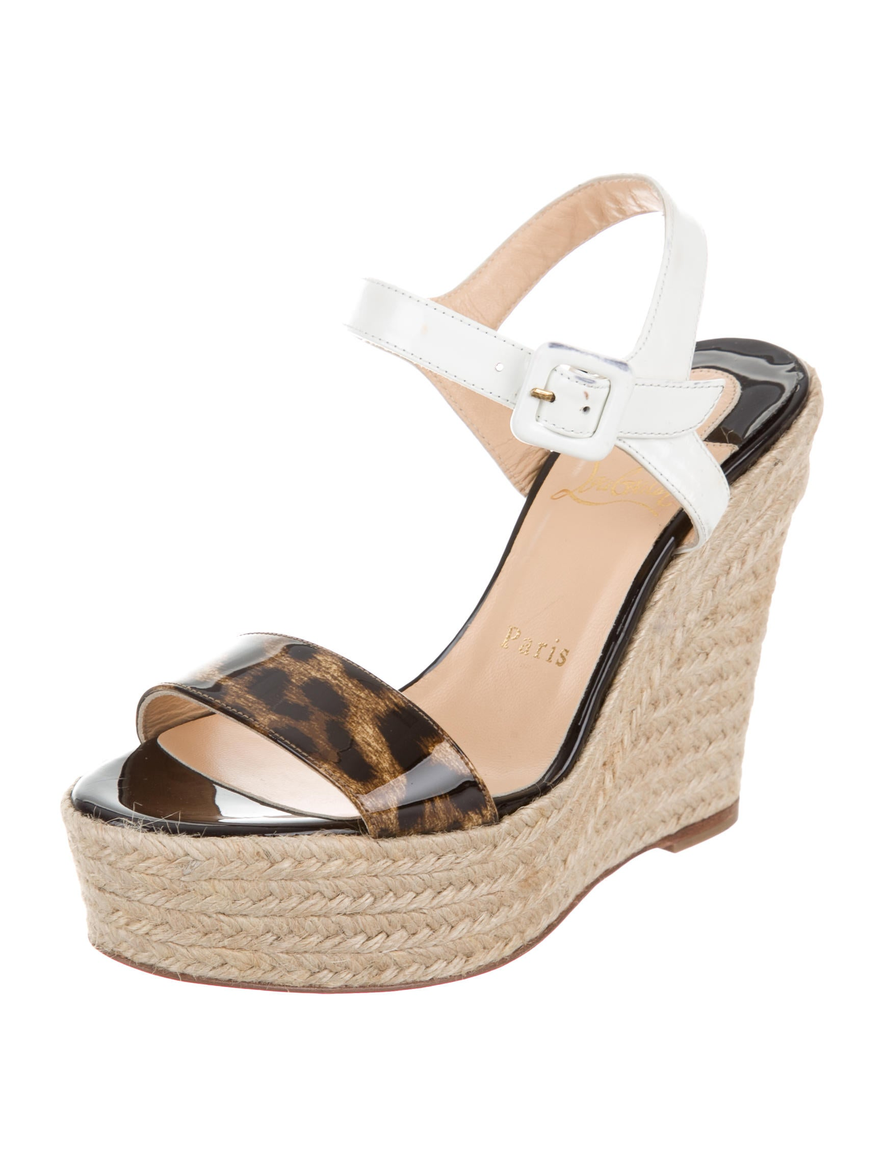 christian louboutin espadrille wedge sandals shoes