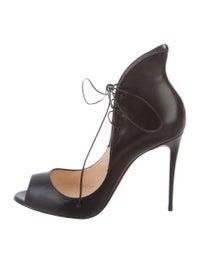 best sneakers dc616 2cdba Christian Louboutin Mega Vamp Lace-Up Pumps - Shoes ...