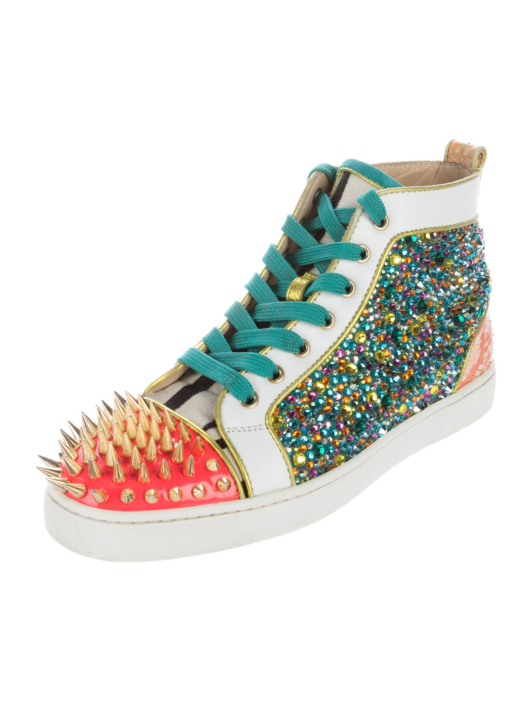 Christian Louboutin Snakeskin Trimmed No Limit Sneakers