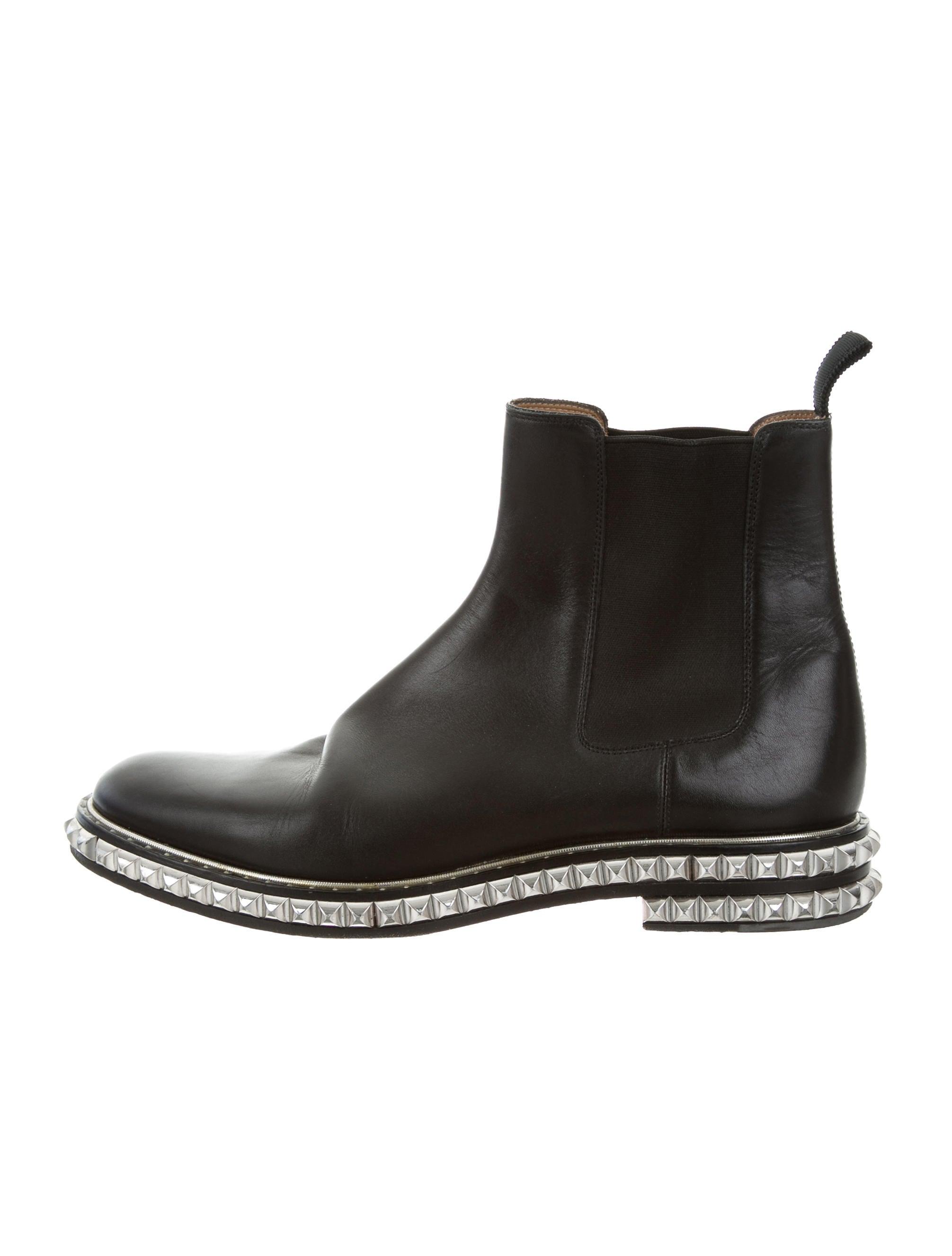 christian louboutin flat chelsea boots shoes