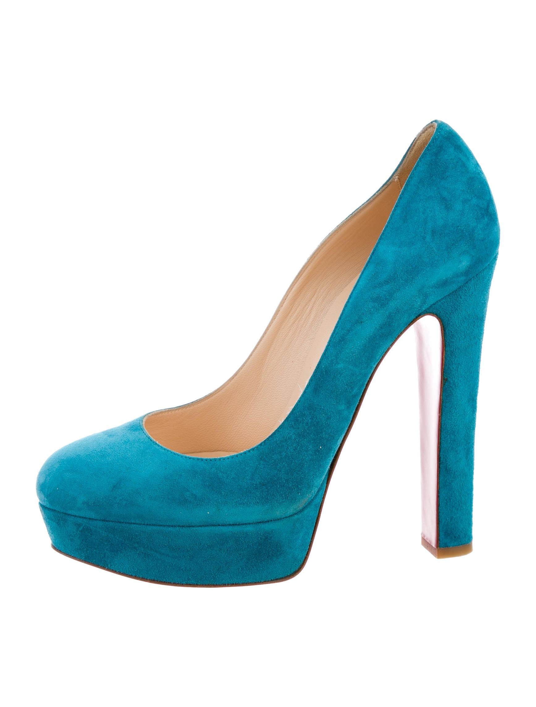 christian louboutin suede platform pumps shoes
