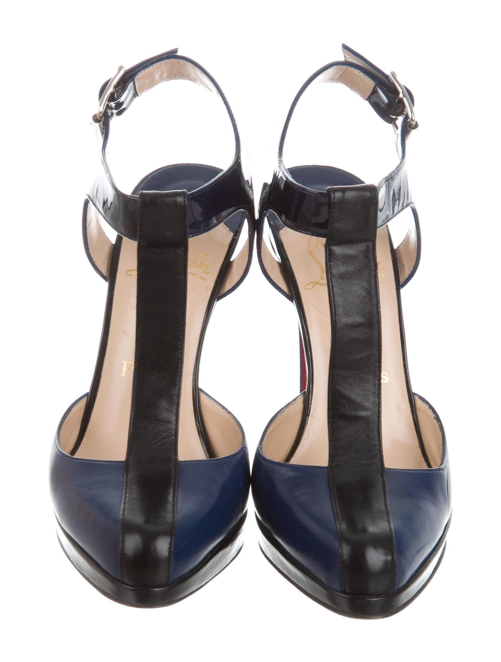 christian louboutin platform t strap pumps shoes cht68231 the realreal. Black Bedroom Furniture Sets. Home Design Ideas