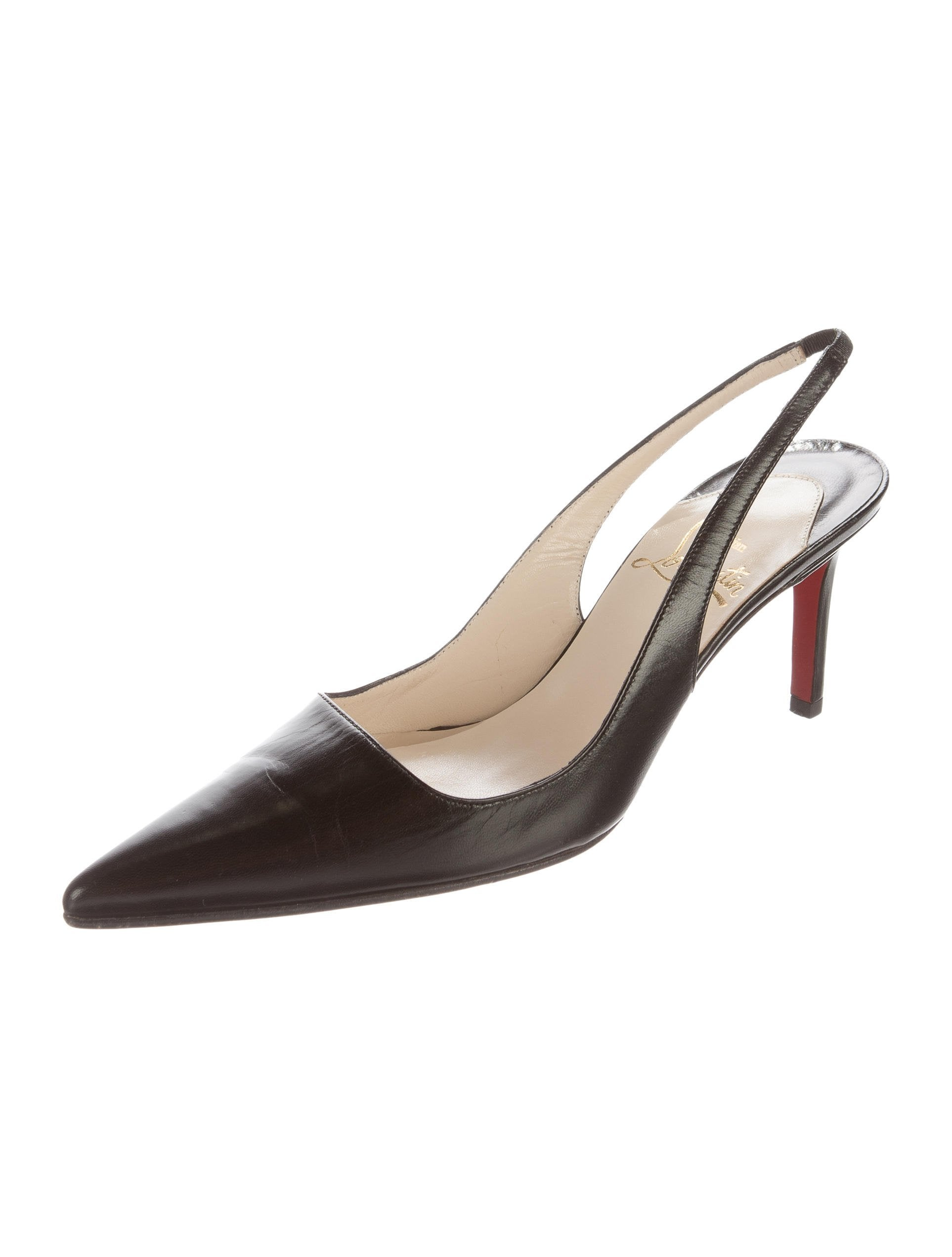 Christian Louboutin Leather Slingback Pumps - Shoes - CHT68428 | The RealReal