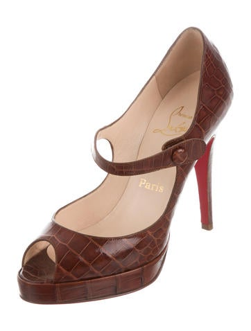 discount Manchester classic sale online Christian Louboutin Alligator Mary Jane Pumps TfnhiNhDva