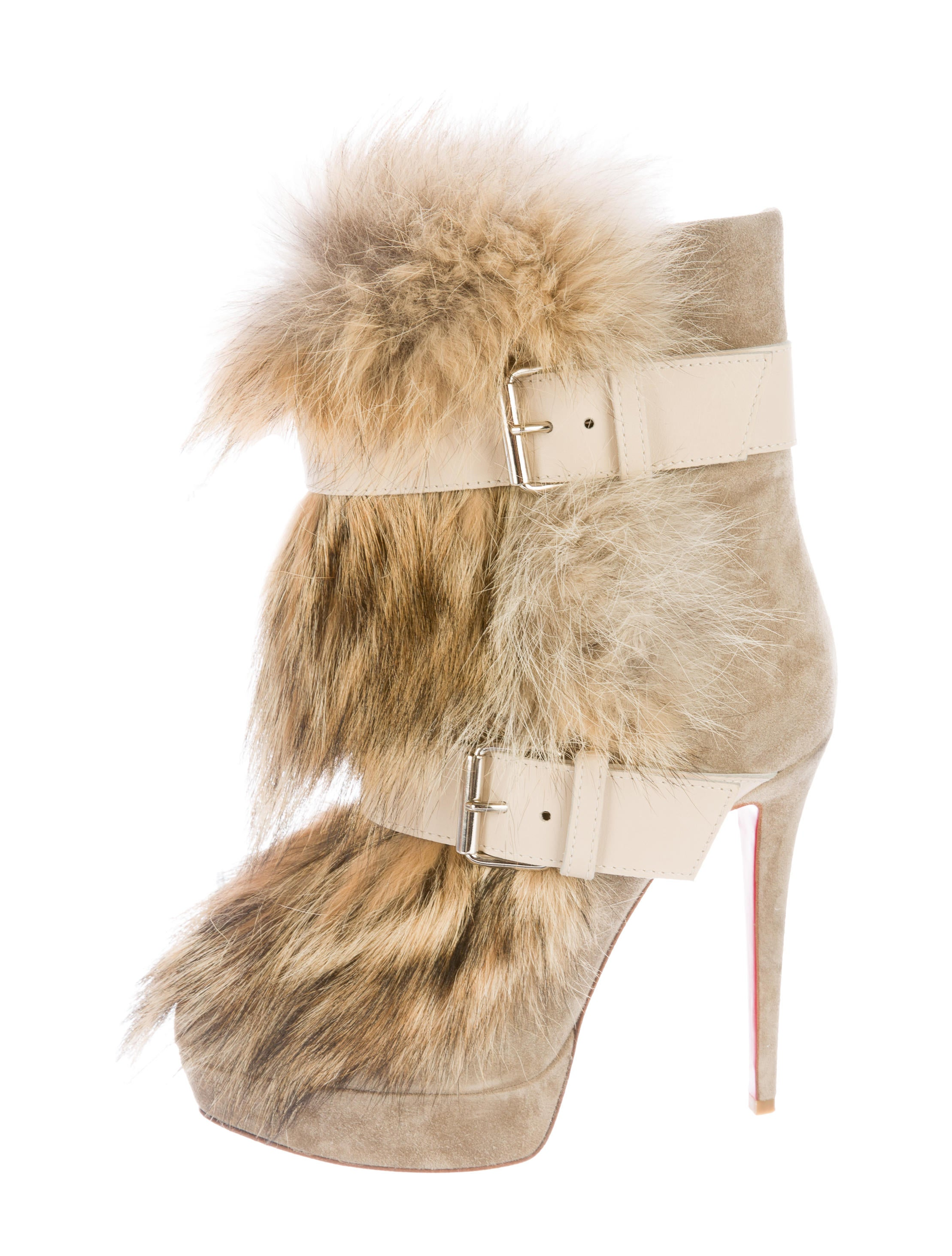e198ed9df1a8 Christian Louboutin Toundra Fur-Trimmed Ankle Boots - Shoes ...