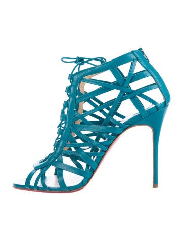 Christian Louboutin Leather Cage Sandals None