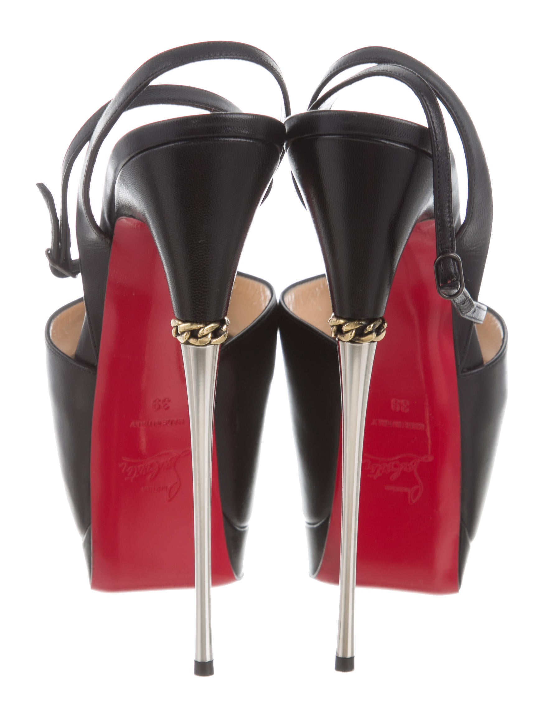 Contemporary Flatware Christian Louboutin Despressi Platform Sandals Shoes