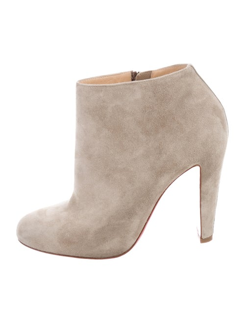 Christian Louboutin Bobsleigh 100 Suede Ankle Boots Shoes