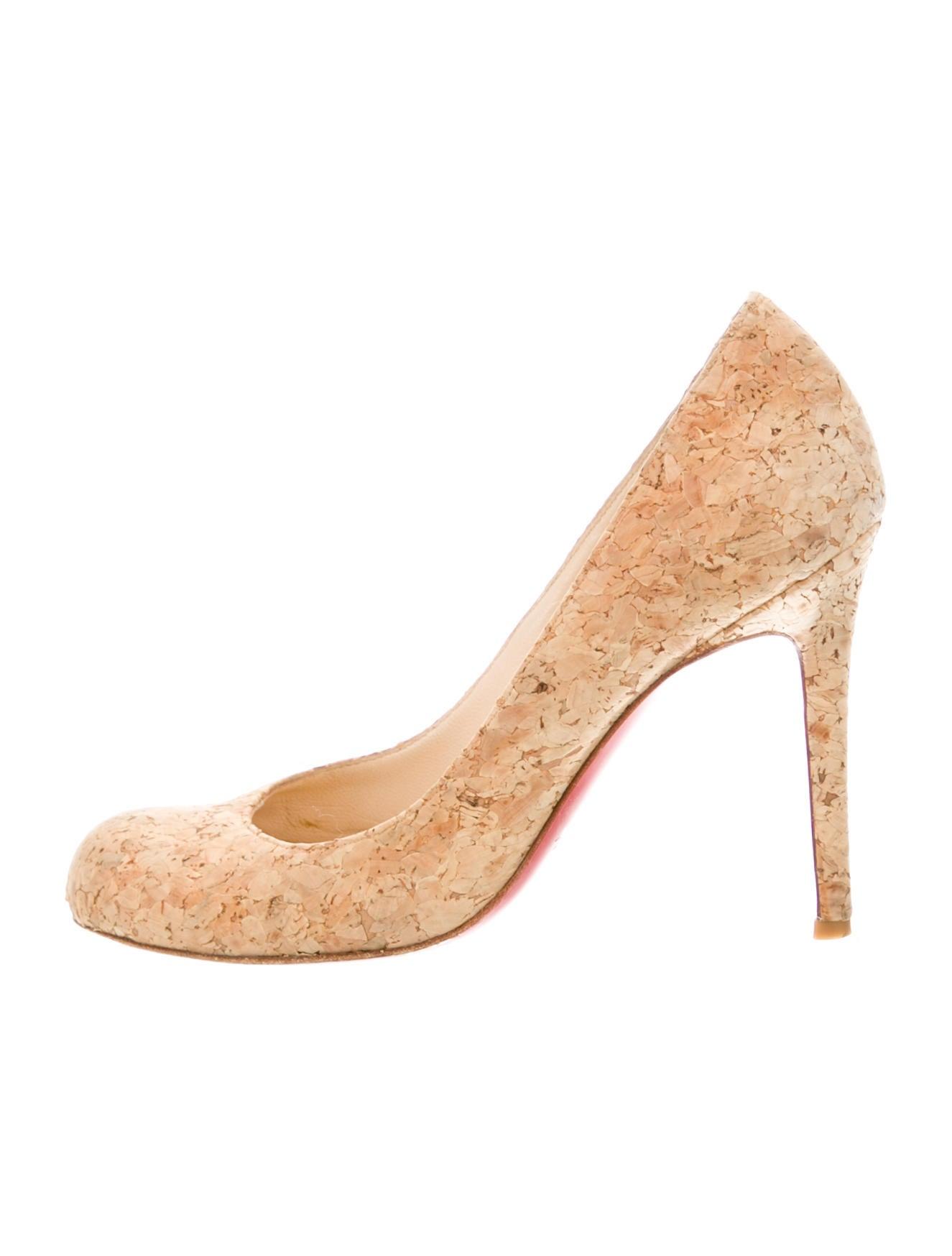 Christian louboutin cork simple pumps shoes cht71520 for Simple cork