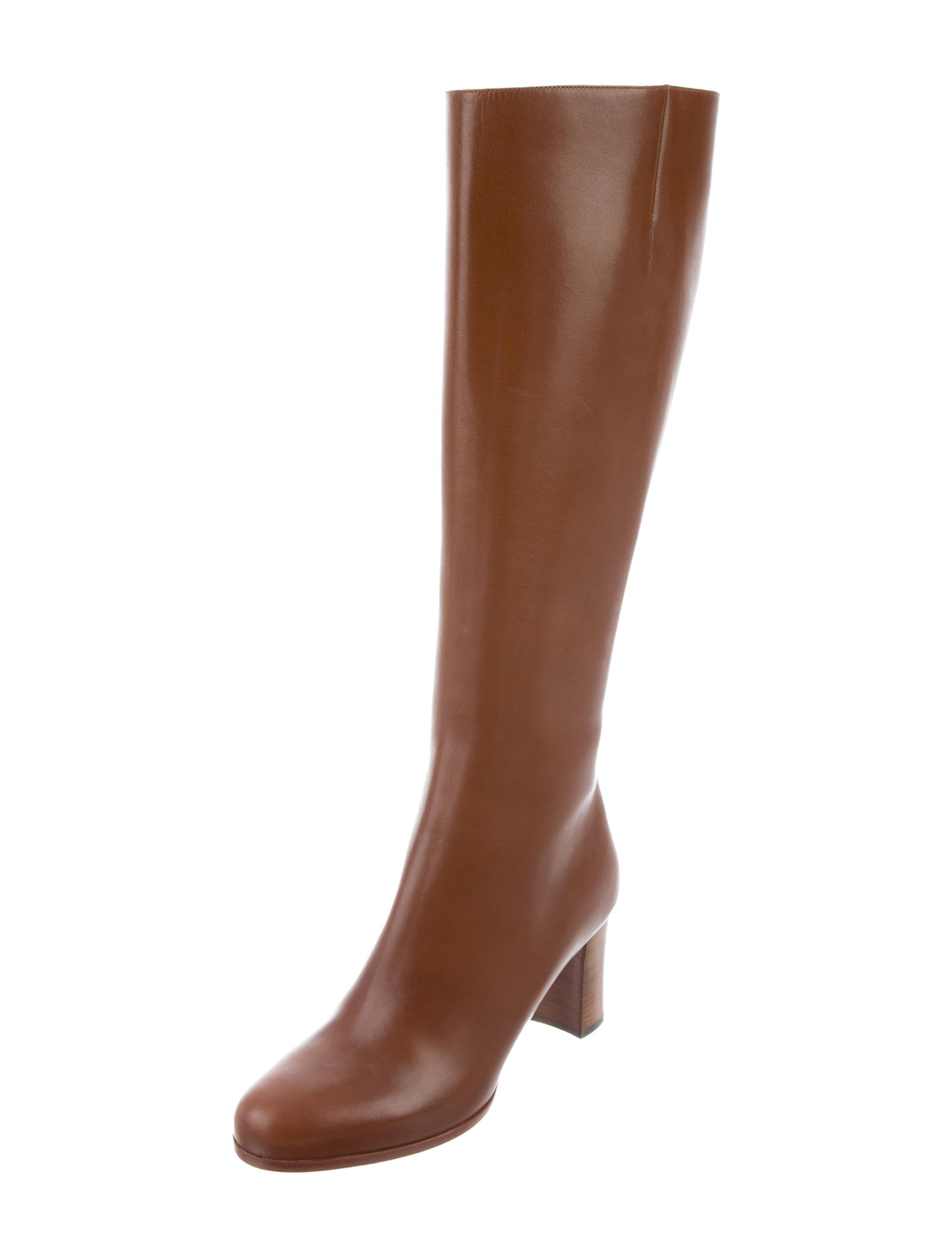 christian louboutin knee high leather boots shoes