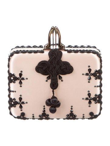 Christian Louboutin Embroidered Sofia Clutch None