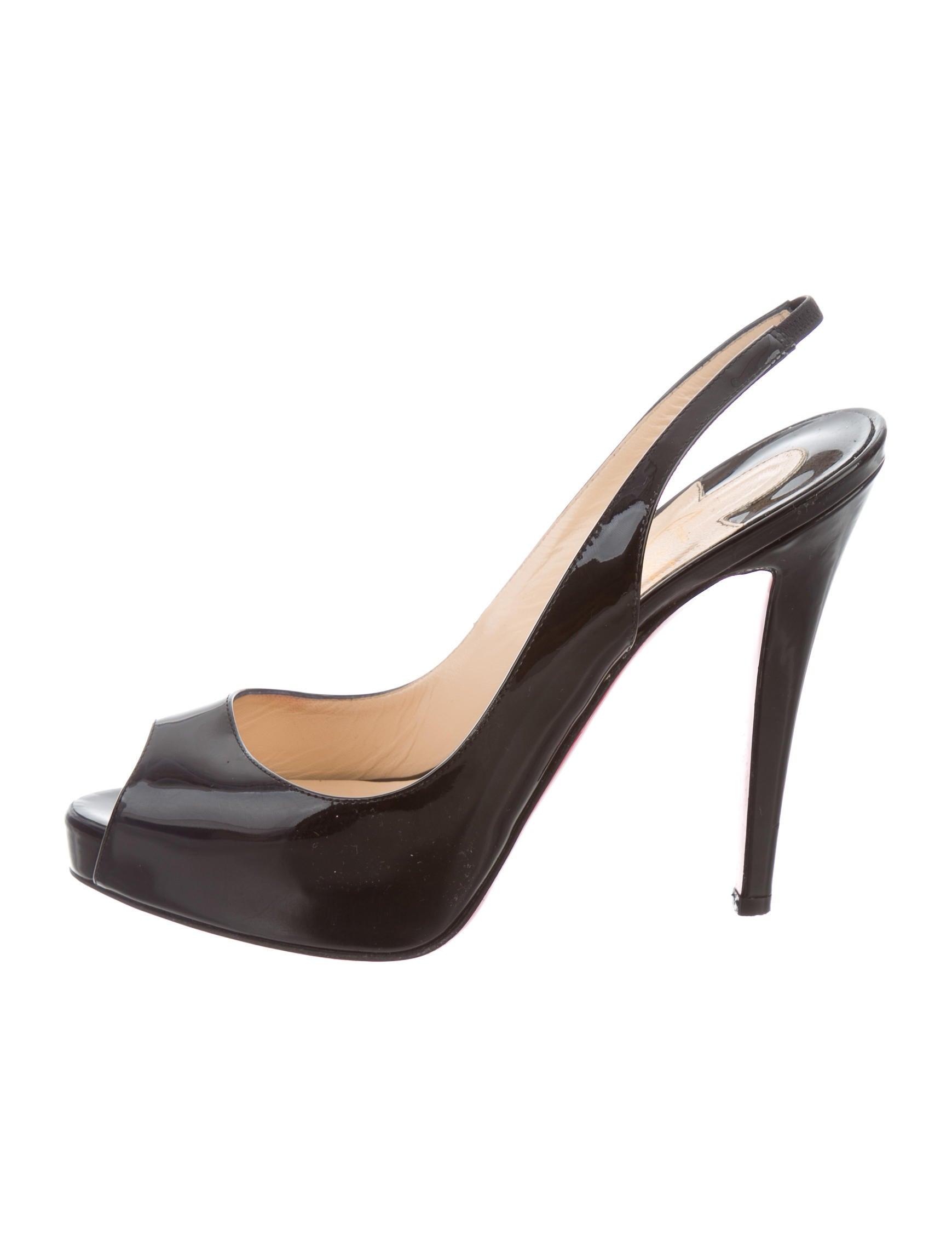 Christian Louboutin Peep-Toe Slingback Pumps - Shoes - CHT72294 | The RealReal