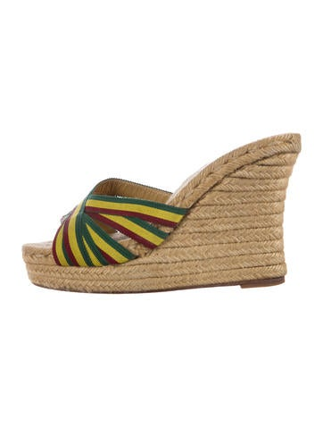 Christian Louboutin Cataribbon Espadrille Wedges None